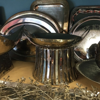 Casa Nova's Contemporary Glass & Steel Service Ware Collection