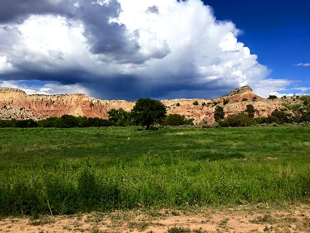 Ghost Ranch scenery for location wedding catered by Casa Nova Custom Catering, Santa Fe, New Mexico