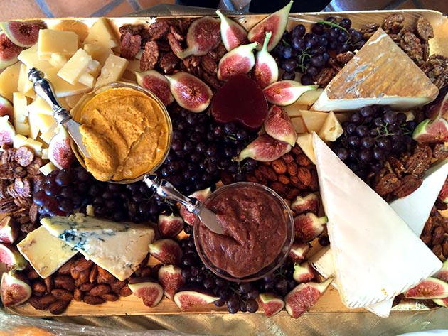 International cheese and appetizer platter by Casa Nova Custom Catering, Santa Fe, New Mexico