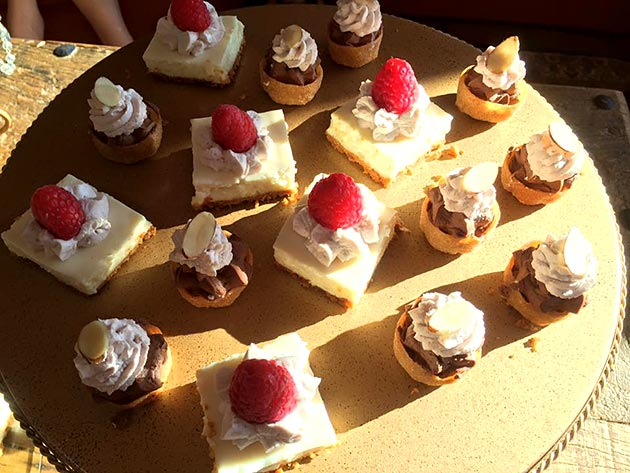 Dessert bites by Casa Nova Custom Catering, Santa Fe, New Mexico