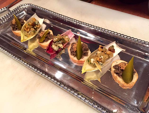 A selection of delicious vegan hors d'oeuvres by Casa Nova Custom Catering, Santa Fe, NM
