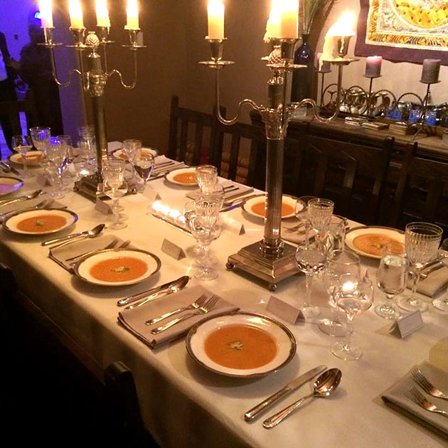 Elegant wedding reception first course by Casa Nova Custom Catering, Santa Fe, NM