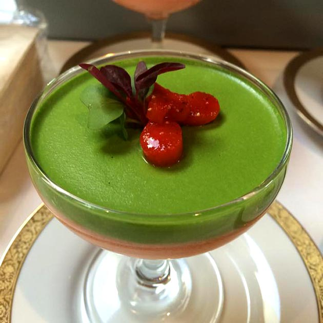 Tomato avocado mousse by Casa Nova Custom Catering, Santa Fe, NM