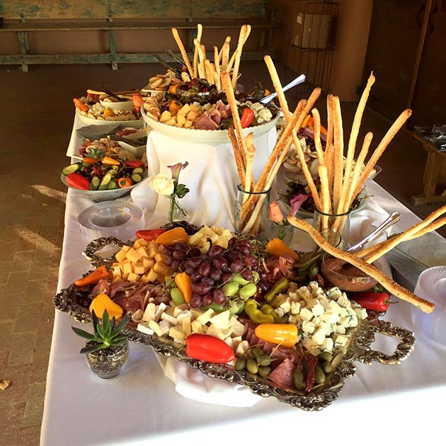 Wedding antipasto table by Casa Nova Custom Catering, Santa Fe, New Mexico