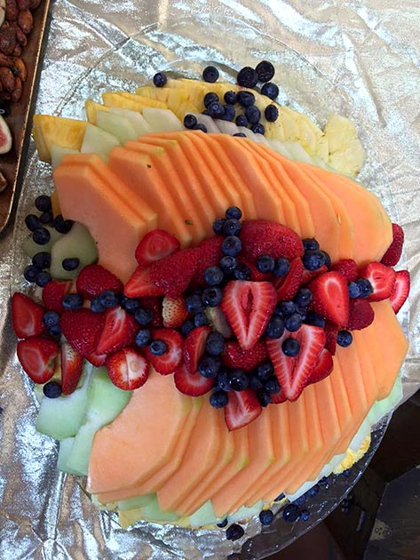 Seasonal fresh fruit platter by Casa Nova Custom Catering, Santa Fe, NM