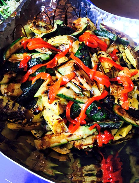 Thai grilled veggies by Casa Nova Custom Catering, Santa Fe, New Mexico