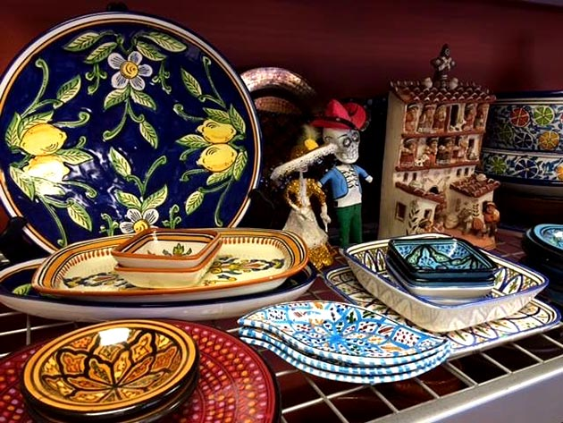 Casuela and sarape service ware collection from Casa Nova Custom Catering, Santa Fe, NM