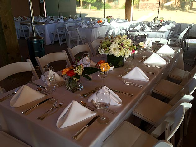 Las Golondrinas wedding tale settings by Casa Nova Custom Catering, Santa Fe, NM
