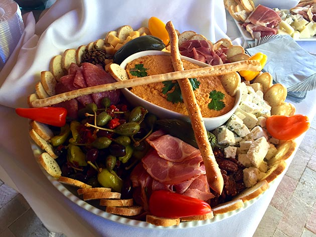 Delectable antipasto platter by Casa Nova Custom Catering, Santa Fe, NM