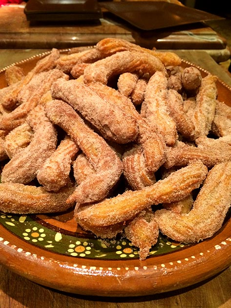 Sweet, light churros freshly made by Casa Nova Custom Catering, Santa Fe, NM