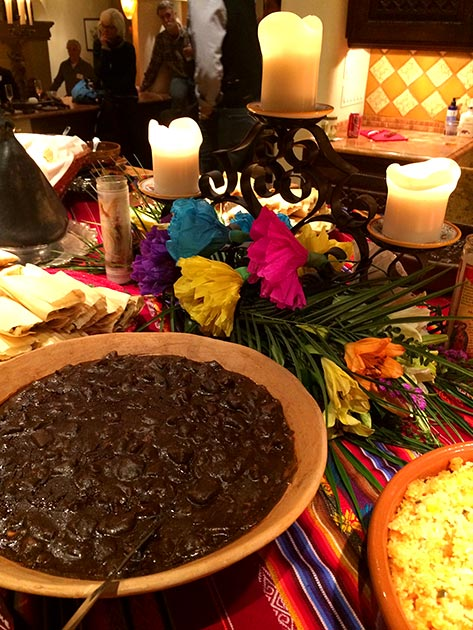 Santa Fe style menu featuring mole and tamales by Casa Nova Custom Catering, Santa Fe, NM