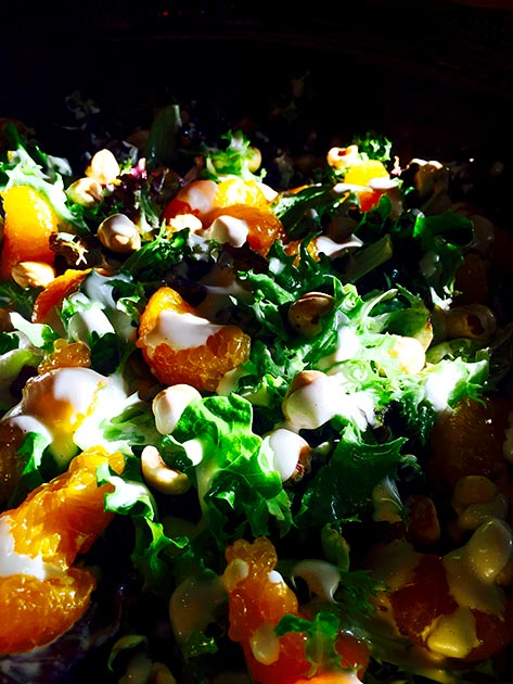 Hazelnut mandarin orange salad by Casa Nova Custom Catering, Santa Fe, NM