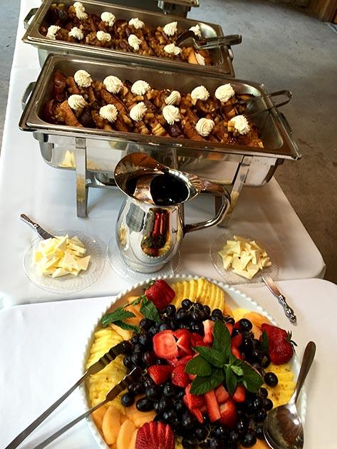 Wedding brunch selections catered by Casa Nova Custom Catering, Santa Fe, NM