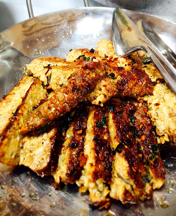 Thai Grilled Tempeh from a catered wedding by Casa Nova Custom Catering, Santa Fe, New Mexico