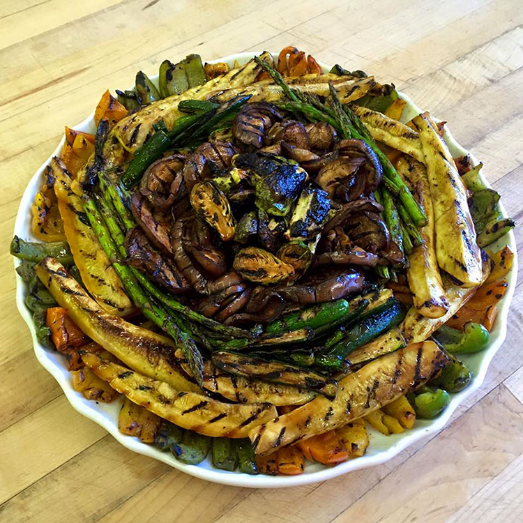 Grilled Vegetable Platter by Casa Nova Custom Catering, Santa Fe, New Mexico