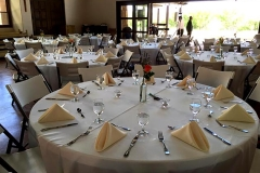 Wedding tables at Ghost Ranch, NM with catering by Casa Nova Custom Catering, Santa Fe, New Mexico