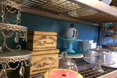 Shabby Chic service ware from Casa Nova Custom Catering, Santa Fe, NM