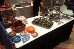 A variety of service ware on display from Casa Nova Custom Catering, Santa Fe, New Mexico