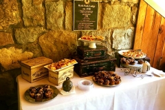 Dessert table with Shabby Chic accessories and decor by Casa Nova Custom Catering, Santa Fe, New Mexico