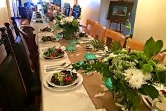 Family style wedding dinner catered by Casa Nova Custom Catering, Santa Fe, New Mexico
