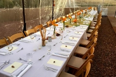 Banquet table setting for Dia de los Muertos celebration by Casa Nova Custom Catering, Santa Fe, NM