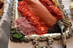 Smoked salmon platter by Casa Nova Custom Catering, Santa Fe, NM