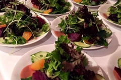 Local green salad by Casa Nova Custom Catering, Santa Fe, NM