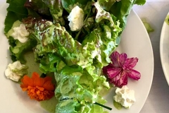 Edible bridal bouquet salad for a wedding catered by Casa Nova Custom Catering, Santa Fe, NM