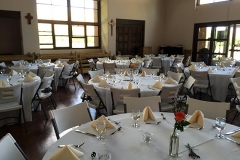 Ghost Ranch dinner setting with catering by Casa Nova Custom Catering, Santa Fe, NM