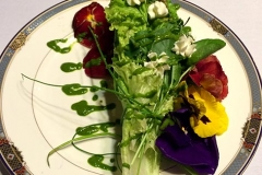 The brides/grooms wedding bouquet salad by Casa Nova Custom Catering, Santa Fe, NM