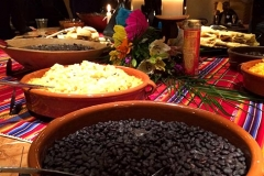 Mexican wedding menu selections colorfully displayed with delicious catering by Casa Nova Custom Catering, Santa Fe, NM
