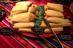 Authentic, delicious Southwest chicken and calabacitas tamales by Casa Nova Custom Catering, Santa Fe, NM
