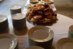 Bagel station at wedding brunch catered by Casa Nova Custom Catering, Santa Fe, NM