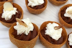 Delicious strawberry tart with St. Germaine whipped cream by Casa Nova Custom Catering, Santa Fe, NM