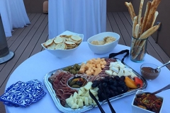 Delectable cheese and meat platter by Casa Nova Custom Catering, Santa Fe, NM