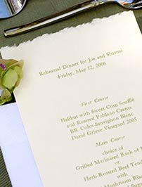 Custom Catering Menus